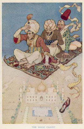 Three Travellers on A Magic Carpet