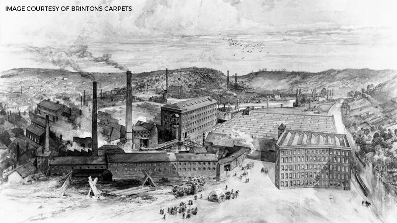 Image of Brintons Factory Circa 1870