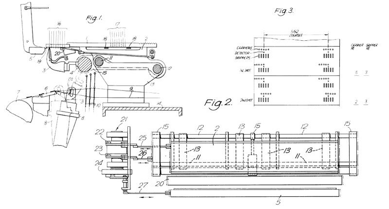 Details from patent of Axminster Loom